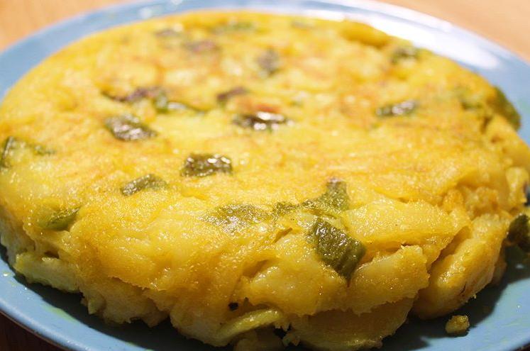 tortilla de patata sin harina de garbanzo
